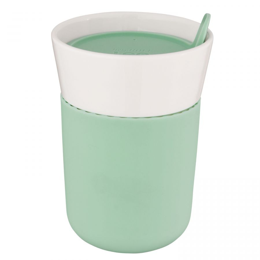 Termohrnek porcelánový s měkčeným úchopem LEO 330 ml