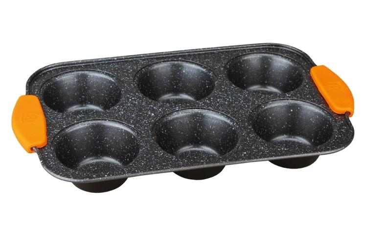 Forma na muffiny 6 ks silikonové rukojeti 29 x 18 x 3 Granit Diamond Line