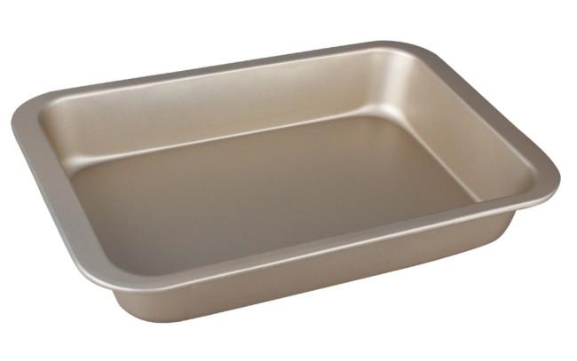 Plech na pečení s nepřilnavým povrchem 36x24cm zlatý