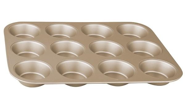 Forma na muffiny s nepřilnavým povrchem 12 ks zlatá BERLINGERHAUS BH-1430