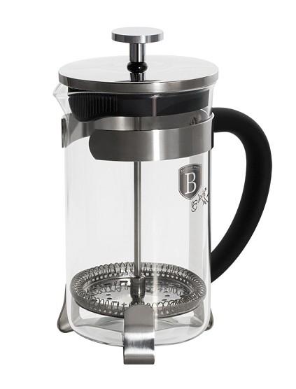 Konvička na čaj a kávu French Press 350 ml černá BERLINGERHAUS BH-1786