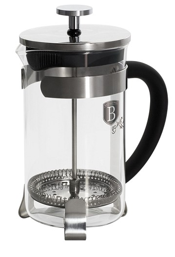 Konvička na čaj a kávu French Press 600 ml černá