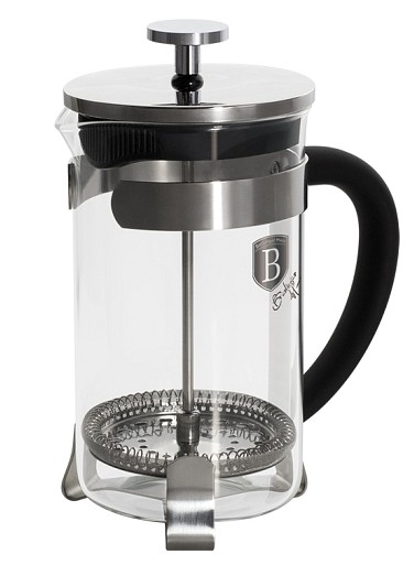 Konvička na čaj a kávu French Press 800 ml černá BERLINGERHAUS BH-1788