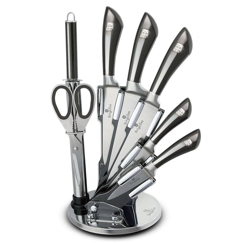Sada nožů ve stojanu 8 ks nerez Carbon Metallic Line