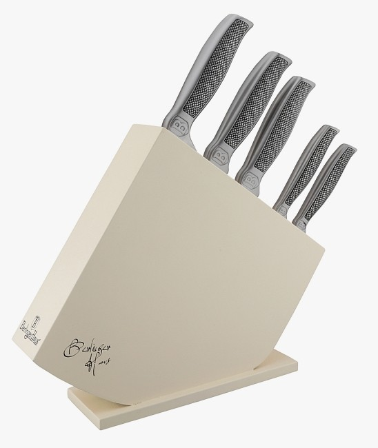 Sada nožů v dřevěném stojanu nerez 6 ks