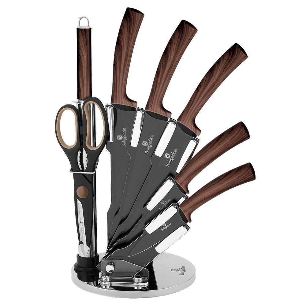Sada nožů s nepřilnavým povrchem Forest Line Ebony Rosewood 8 ks