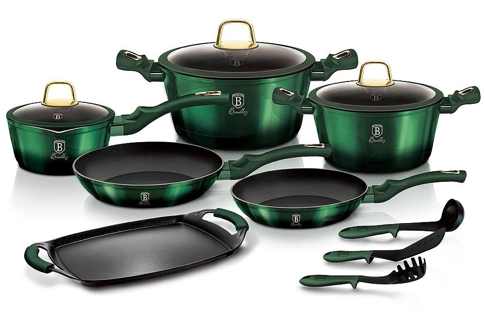 Sada nádobí s titanovým povrchem 12+2 ks Emerald Collection