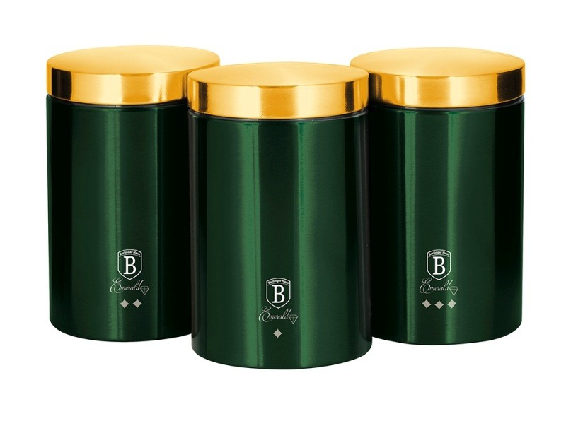 Dóza na potraviny sada 3 ks Emerald Collection BERLINGERHAUS BH-6272