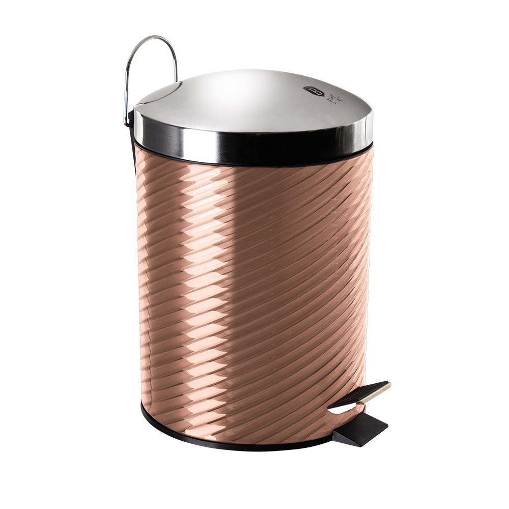 Koš odpadkový nerez 5 l Rosegold Metallic Line BERLINGERHAUS BH-6297