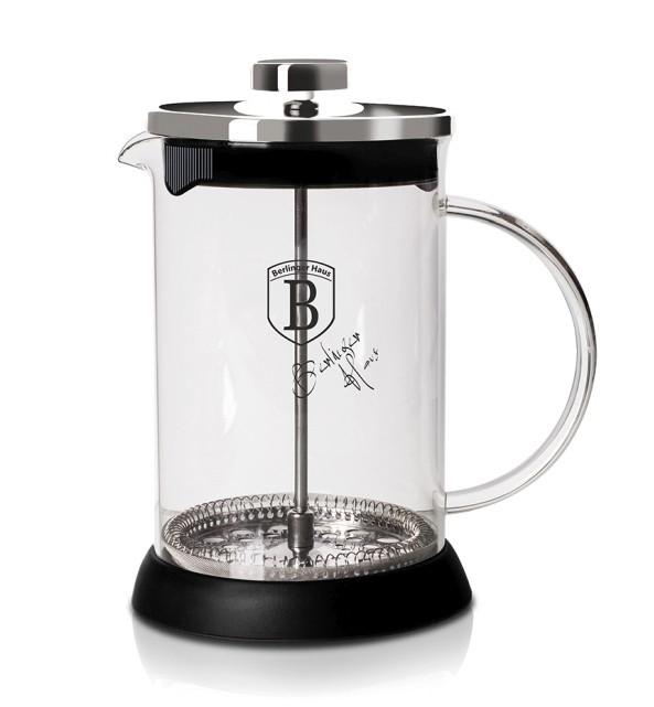 Konvička na čaj a kávu french press 800 ml nerez BERLINGERHAUS BH-6303