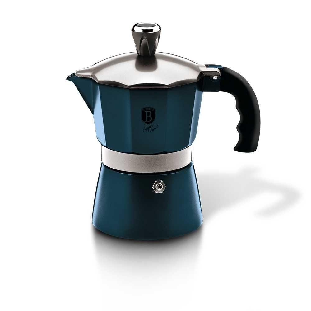 Konvice na espresso 3 šálky Aquamarine Metallic Line BERLINGERHAUS BH-6383