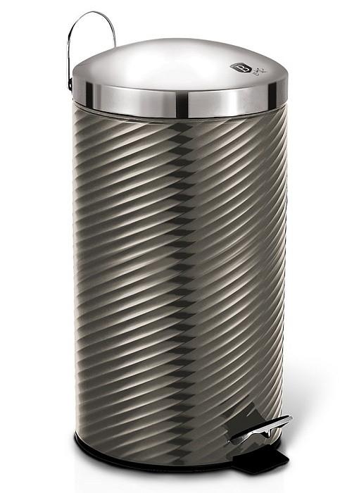 Koš odpadkový nerez 7 l Carbon Metallic Line BERLINGERHAUS BH-6426