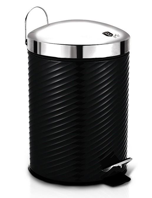 Koš odpadkový nerez 12 l Royal Black Collection BERLINGERHAUS BH-6445