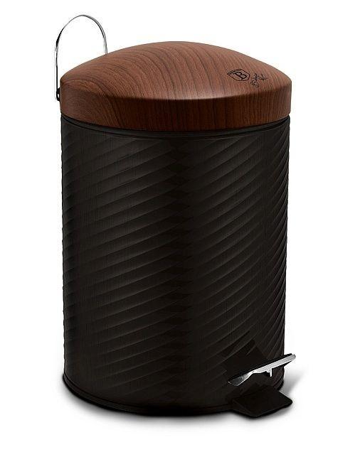 Koš odpadkový nerez 12 l Ebony Line Rosewood BERLINGERHAUS BH-6450