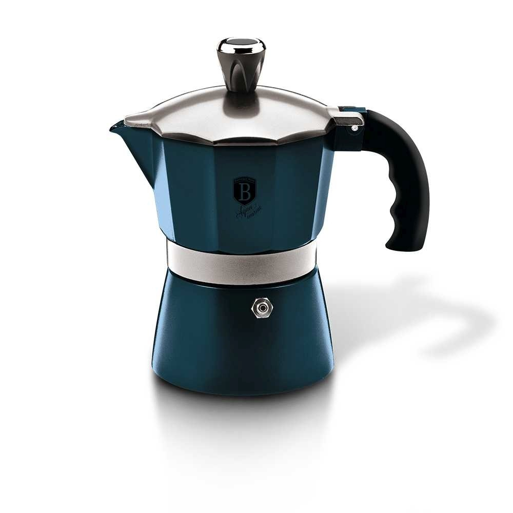 Konvice na espresso 2 šálky Aquamarine Metallic Line BERLINGERHAUS BH-6477