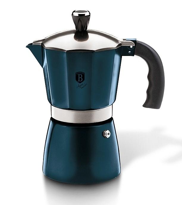Konvice na espresso 6 šálků Aquamarine Metallic Line BERLINGERHAUS BH-6565