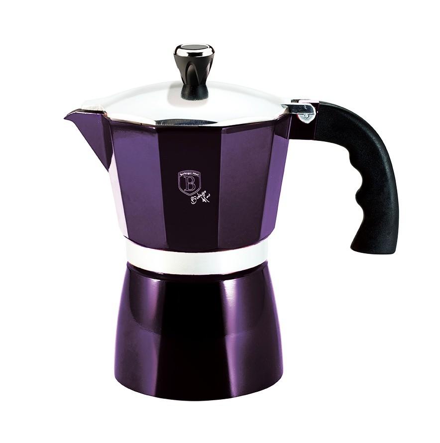 Konvice na espresso 3 šálky Purple Metallic Line