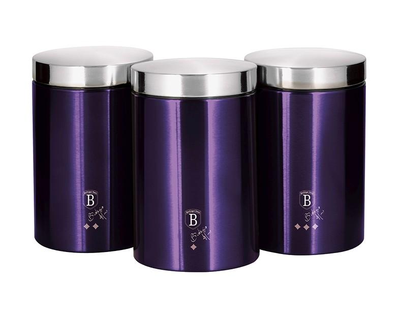 Dóza na potraviny sada 3 ks Purple Metallic Line