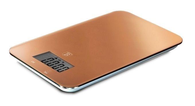 Váha kuchyňská digitální 5 kg Rosegold Metallic Line BERLINGERHAUS BH-9033