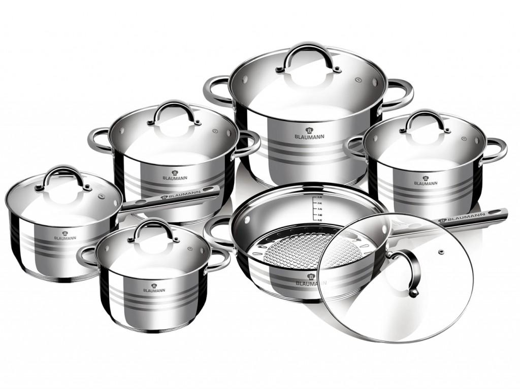 Sada nádobí nerez 12 ks Gourmet Line BLAUMANN BL-1410
