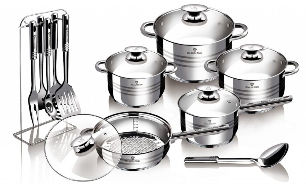 Sada nádobí nerez 17 ks Gourmet Line BLAUMANN BL-3133
