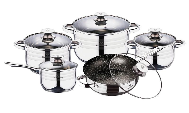 Sada nádobí nerez 10 ks Gourmet Line BLAUMANN BL-3164