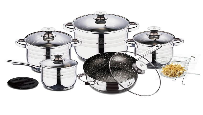 Sada nádobí nerez 12 ks Gourmet Line BLAUMANN BL-3166