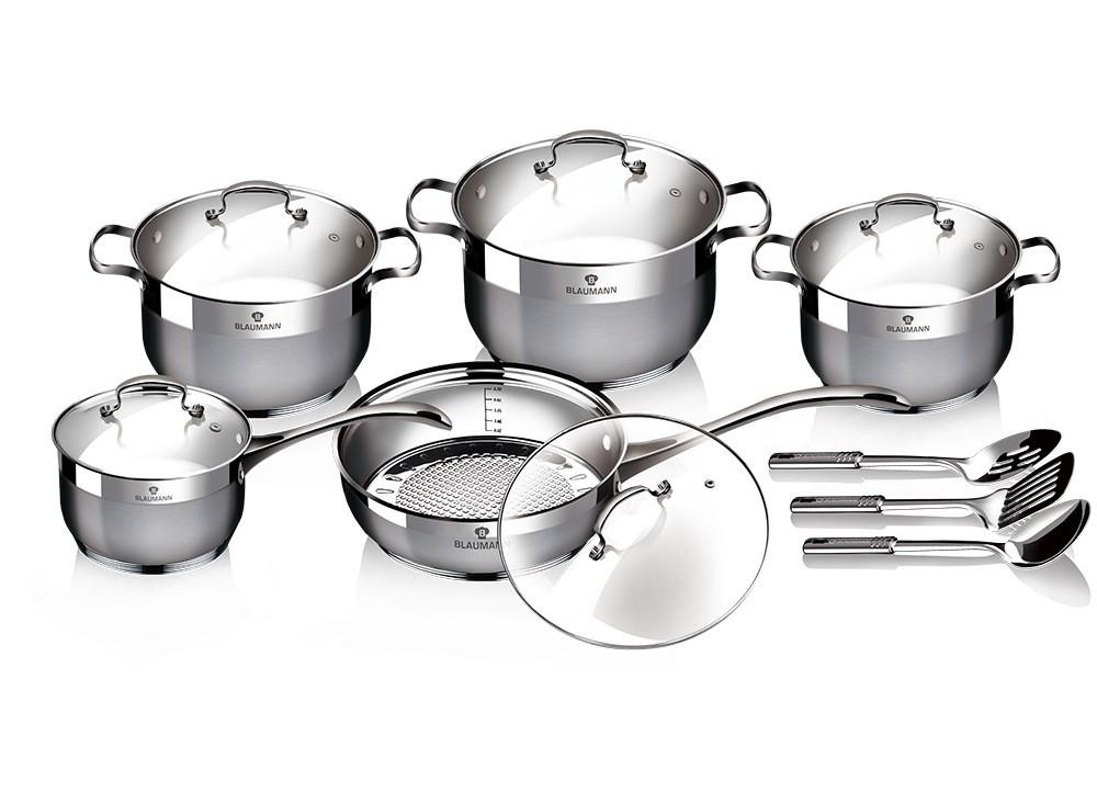 Sada nádobí nerez satin 13 ks Gourmet Line BLAUMANN BL-3196