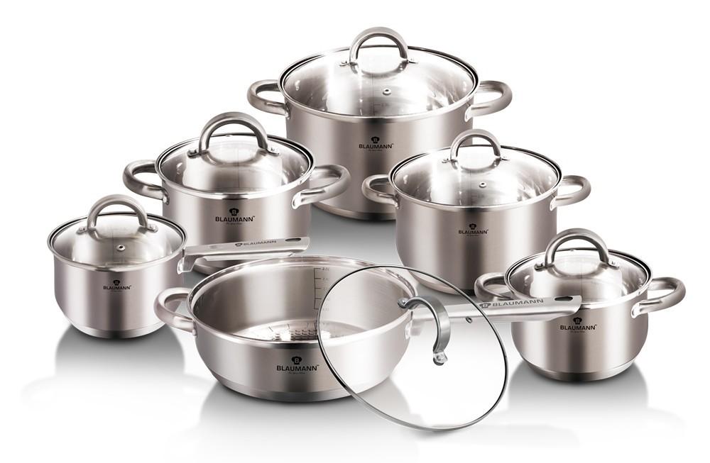 Sada nádobí nerez 12 ks Jumbo Gourmet Line BLAUMAN BL-3246