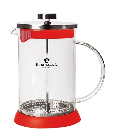 Konvička na čaj a kávu French Press 800 ml červená BLAUMANN BL-3276cerv