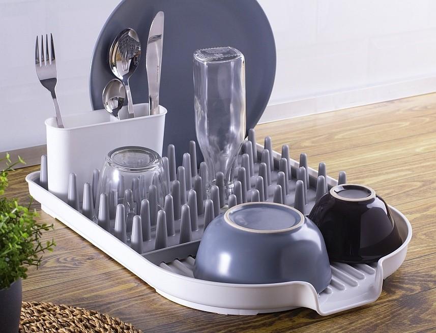 Odkapávač na nádobí s držákem na příbory plast/silikon BLAUMAN BL-3458