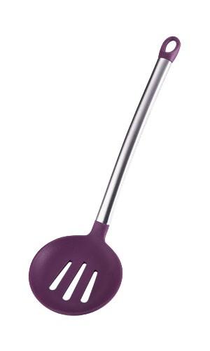 Sběračka s otvory silikonová 35cm FLEXIKITCHEN, barva fialová BERGNER BG-3362 fialová