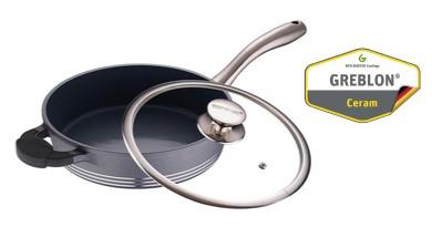 BERGNER Pánev s keramickým povrchem 24 cm SPECTACULAR šedá