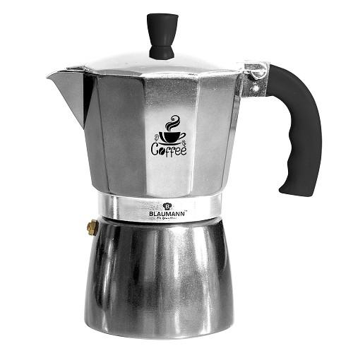 Konvice na espresso 6 šálků černostříbrná