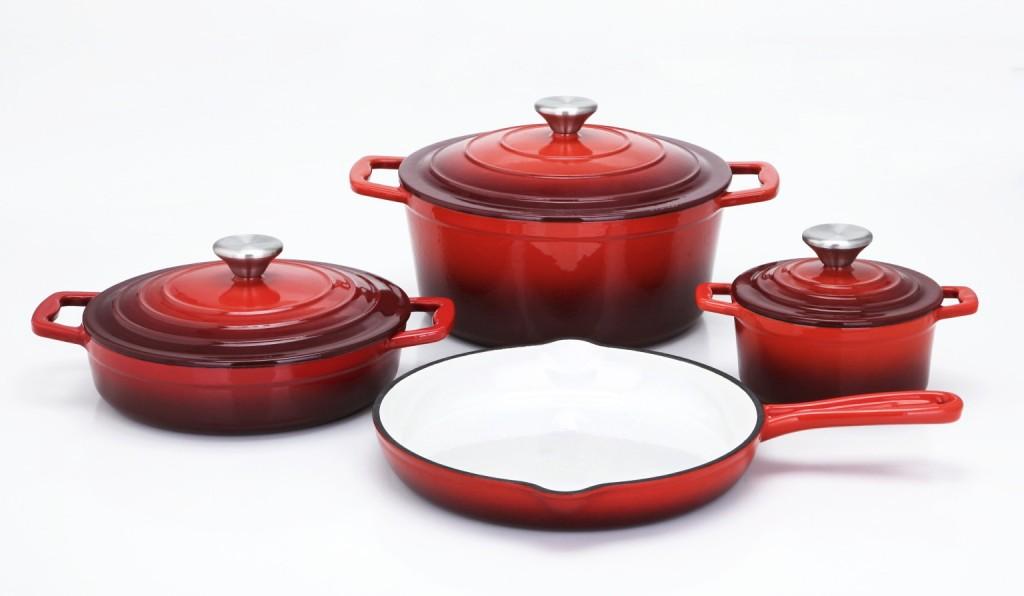 Sada nádobí litinová Xanten 7 ks červená CS Solingen CS-067489