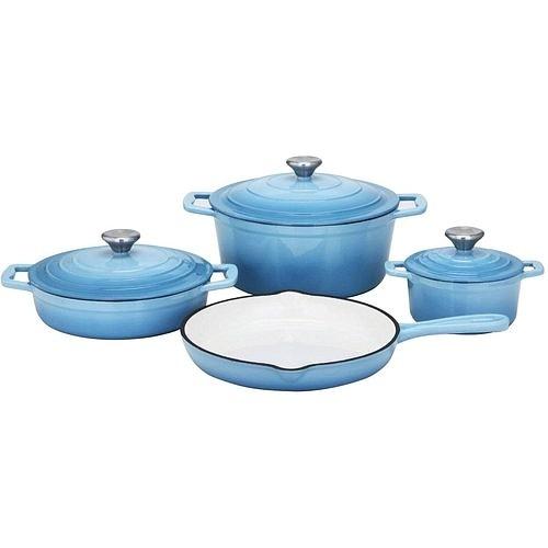 Sada nádobí litinová Xanten 7 ks modrá