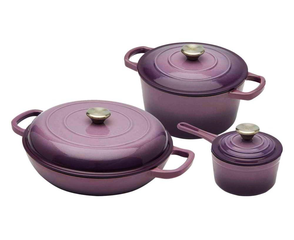 Sada nádobí litinová 6 ks fialová XANTEN CS SOLINGEN CS-072568