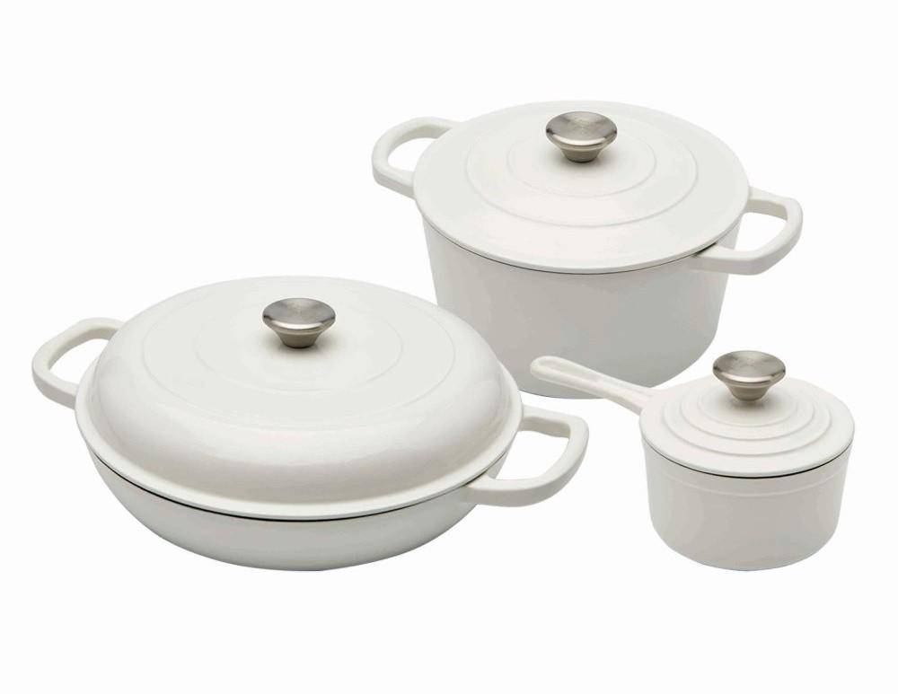 Sada nádobí litinová 6 ks bílá XANTEN CS SOLINGEN CS-072582