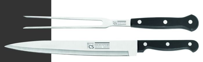 Nůž kuchyňský porcovací se servírovací vidličkou CS SOLINGEN CS-001391