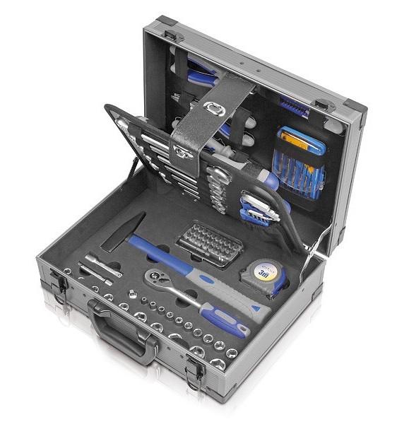 Sada nářadí v kovovém kufru 89 ks ERBA ER-03181