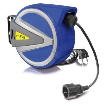 Automatický naviják s el. kabelem 220 V; 13 + 1m, aretace posuvu ERBA ER-11050