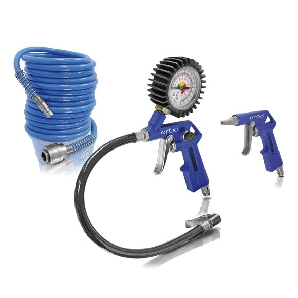 Sada pneumatického příslušenství ke kompresoru 3 ks ERBA ER-20070