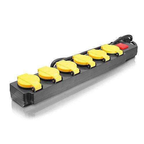 Prodlužovací kabel s vypínačem 6 zásuvek
