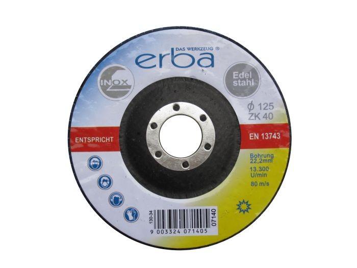 Brusný kotouč lamelový na ocel 125 mm ZK40 ERBA ER-07140