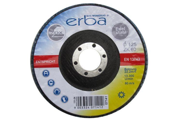Brusný kotouč lamelový na ocel 125 mm ZK60 ERBA ER-07141