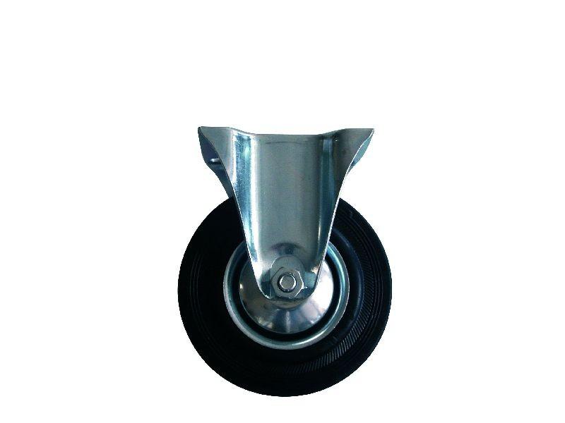 Kolo gumové černé pevná vidlice 85 mm / 60 kg ERBA ER-33100