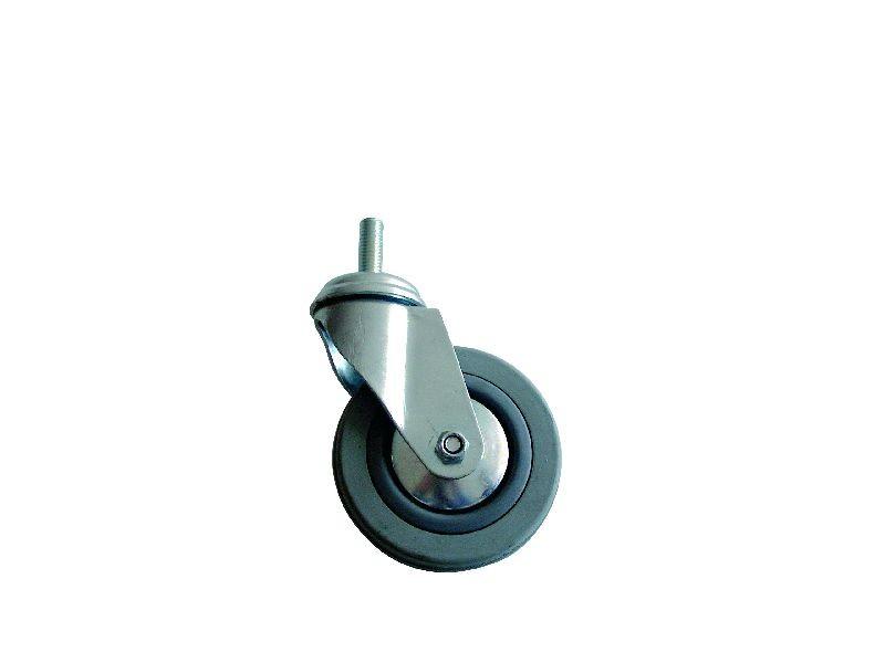 Kolo gumové šedé otočné motážní šroub M10 50 mm / 50 kg