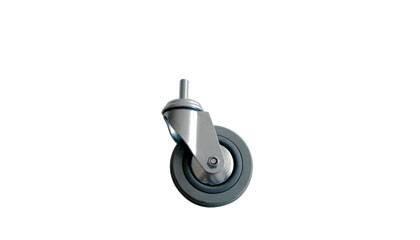 Kolo gumové šedé otočné montážní šroub M12 100 mm / 80 kg ERBA ER-33307