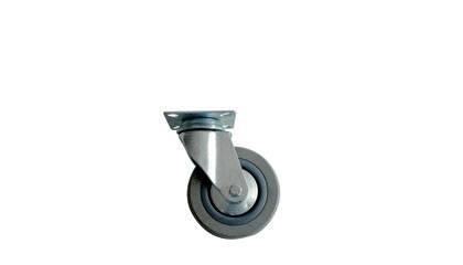 Kolo gumové šedé otočné motážní ploška 75 mm / 70 kg