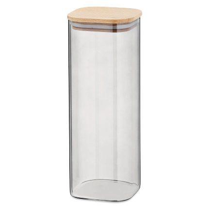 Dóza skladovací sklo / dřevo NEA 2 l